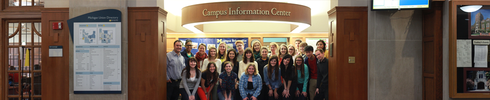 The Campus Information Center at the Michigan Union with its staff