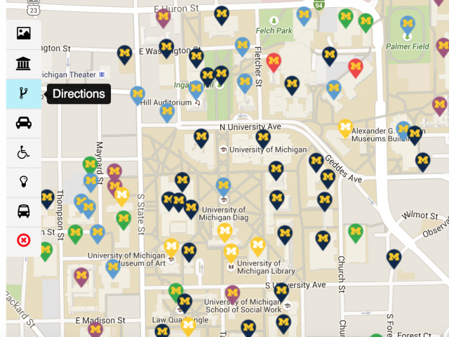 university of michigan ann arbor campus map Interactive Campus Map Campus Information