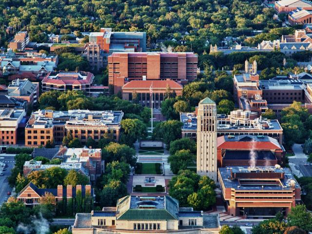 Aerial photo of Ann Arbor