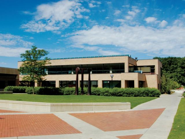 The exterior of Pierpont Commons