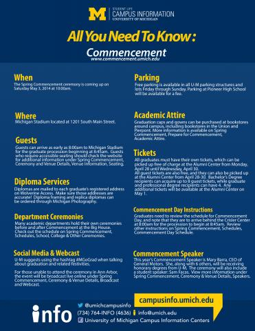Commencement guidelines