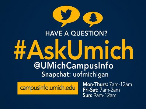 poster for #AskUmich