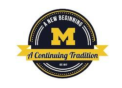 A New beginning, a Continuing Tradition - University of Michigan logo