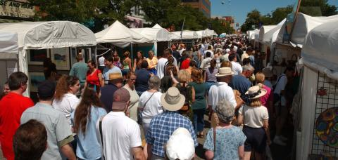 Ann Arbor art fair crowd