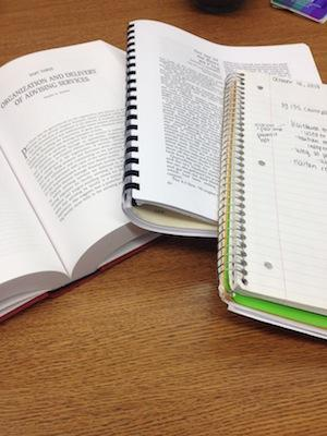 Notebooks and textbooks
