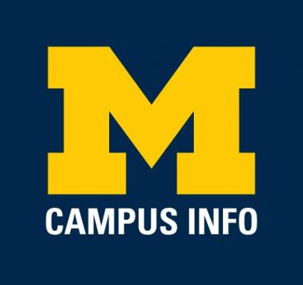 "umich campus info logo (Block M with ""Campus Info"" underneathe"