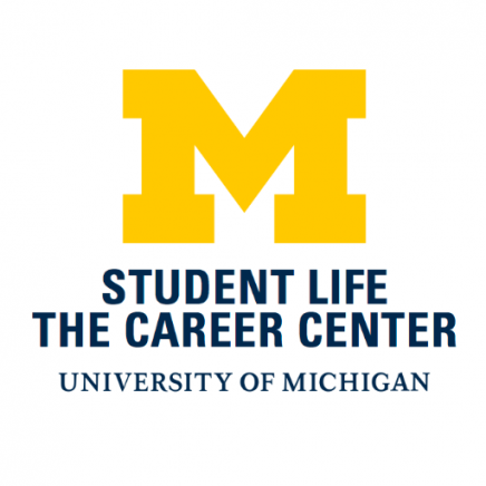 "Career Center logo - Block M with ""Student Life-The Career Center-University of Michigan"" listed beneath"