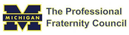 Umich professional fraternity council logo